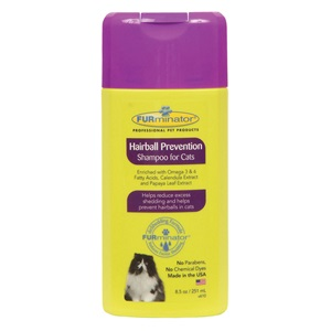 Choose from a variety of hairball remedies for cats for how to prevent hairballs and reduce cat shedding, including this specialized cat shampoo!