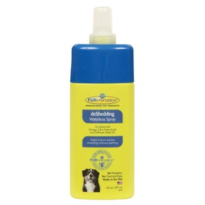 Our deshedding spray is waterless, making your dog cleaning experience faster and easier!