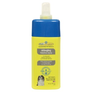 Easily brush your pet's hair with our waterless dog detangler spray!