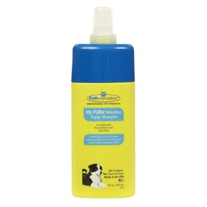 FURminator's My FURst Waterless Puppy Shampoo makes cleaning a puppy with gentle care a breeze!